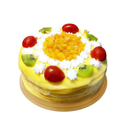 生日鲜花蛋糕-榴莲蛋糕