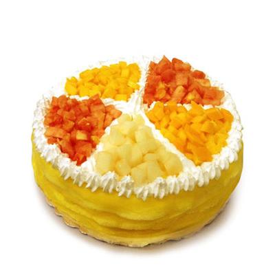 鲜花蛋糕套餐-榴莲蛋糕