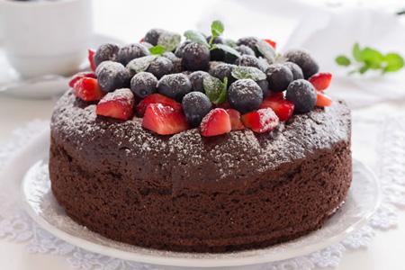 巧克力蛋糕-蓝莓灿烂心情