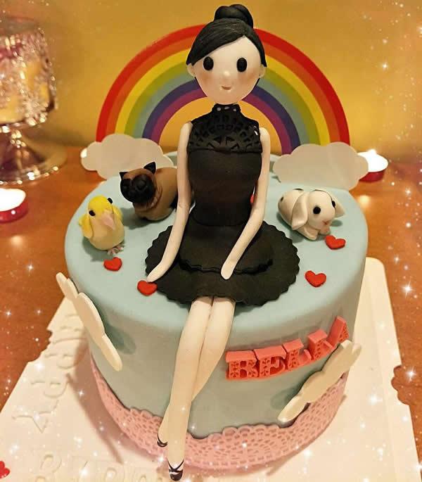 水果蛋糕-翻糖公主