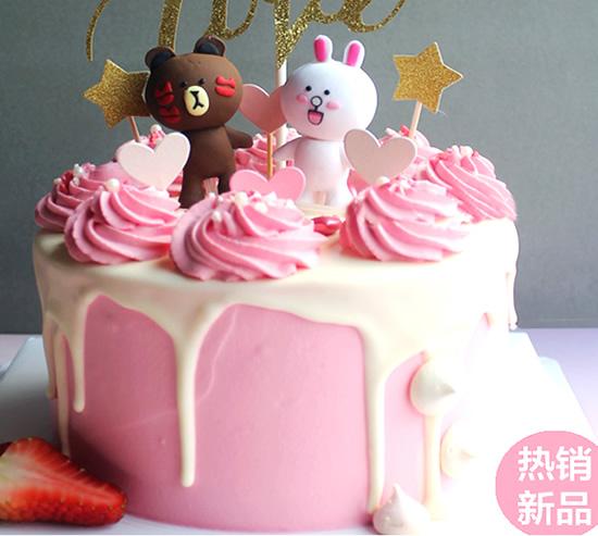 水果蛋糕-布朗熊蛋糕B款