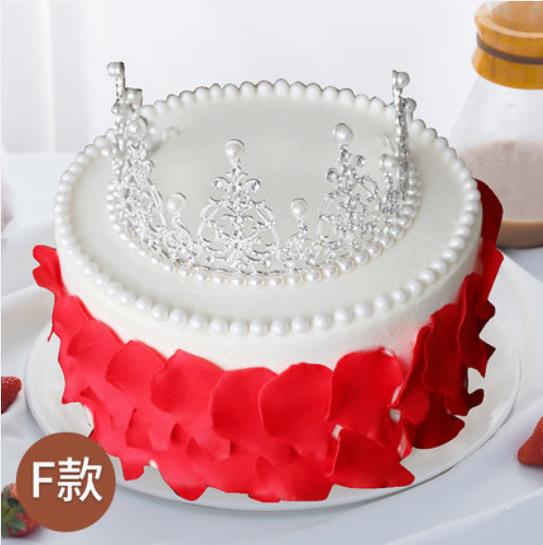 卖蛋糕dangao-皇冠生日蛋糕F款