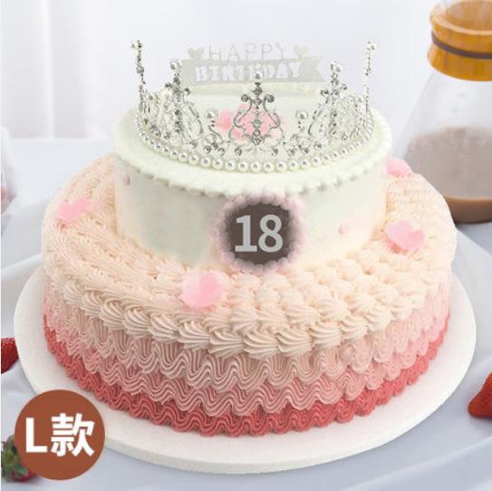 水果蛋糕-皇冠生日蛋糕L款
