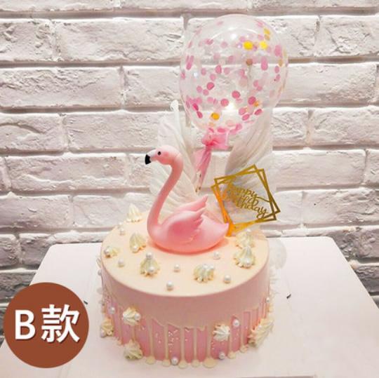 鲜花蛋糕-网红火烈鸟蛋糕B款