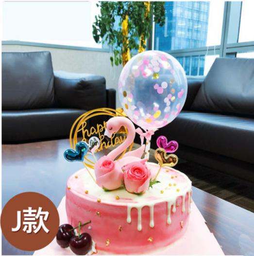 鲜花蛋糕速递网-网红火烈鸟蛋糕J款