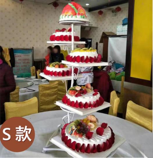 买蛋糕-6层祝寿蛋糕