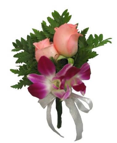 鼓楼订花-兰花玫瑰胸花