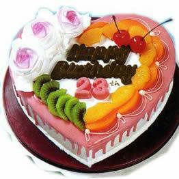 心形水果蛋糕
