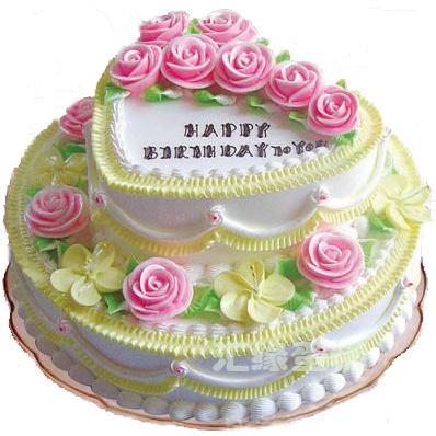 上海网上订花-2层鲜奶蛋糕