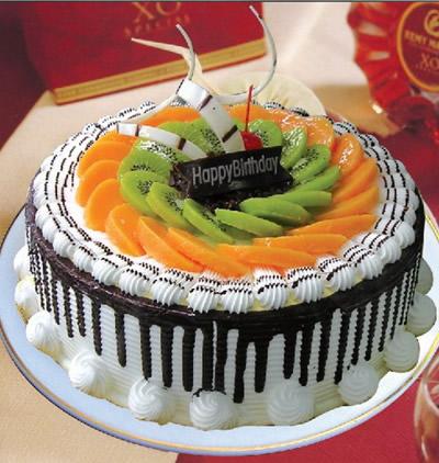 合肥生日蛋糕:水果巧克力情