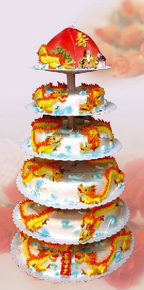 祝寿多层蛋糕1