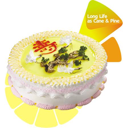 东莞生日蛋糕:米旗 松鹤延年