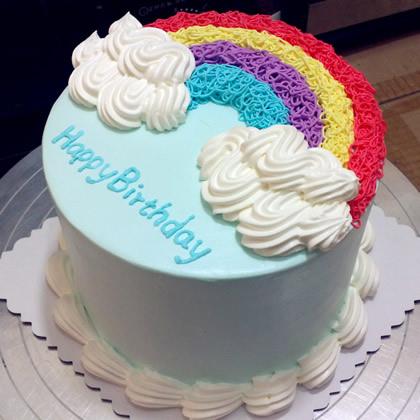 富阳彩虹蛋糕:缤纷彩虹