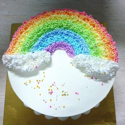 富阳彩虹蛋糕:半弯彩虹