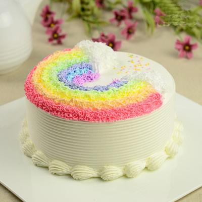 富阳彩虹蛋糕:悬浮彩虹