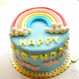富阳彩虹蛋糕:魅力彩虹