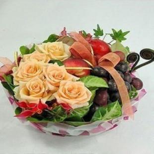 驻马店水果篮:果篮・花好月圆