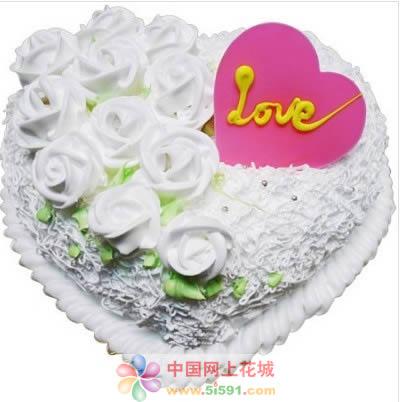 合肥生日蛋糕:心心相印