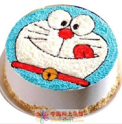 南昌生日蛋糕:机器猫