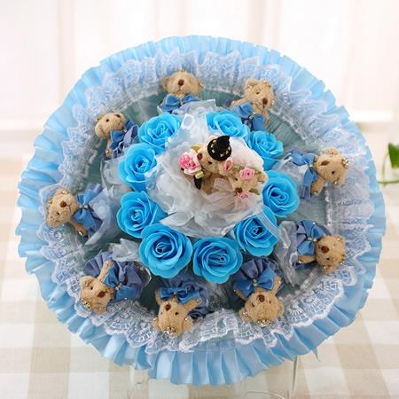 合肥鲜花:相亲相爱-深蓝色