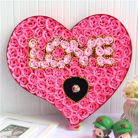鼓楼肥皂花:100朵love戒指粉色
