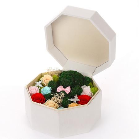 南昌永生花:保鲜花 玫瑰苔藓