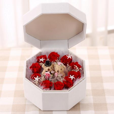 南昌永生花:保鲜花 红玫瑰