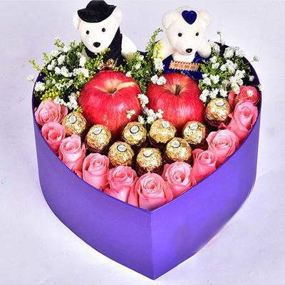 合肥鲜花预定:圣诞礼盒1