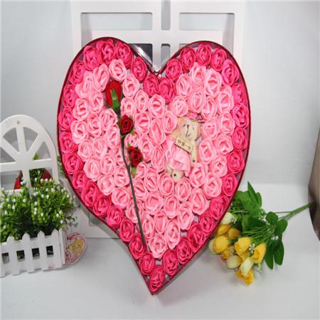 定州肥皂花:92朵粉色炫彩小熊