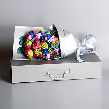 东莞肥皂花:七彩香皂花-11支装 全花束