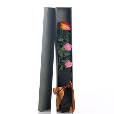 延吉肥皂花:香皂花-1朵彩虹2朵粉玫瑰