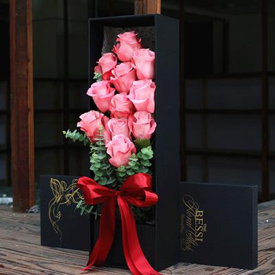 东莞永生花:进口花-粉色的热恋11支