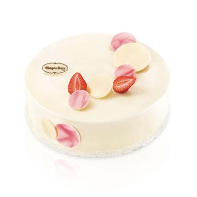 哈根达斯 冰淇淋蛋糕 草莓情人梦
