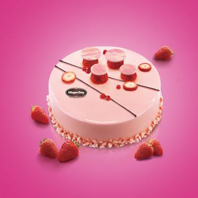 哈根达斯 冰淇淋蛋糕 草莓心情