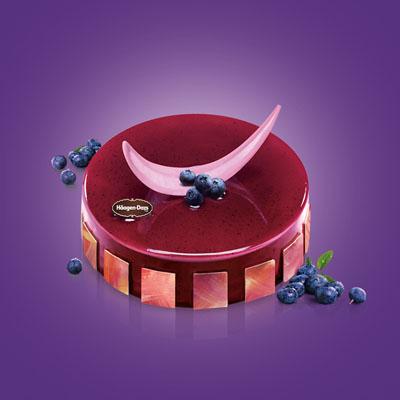 哈根达斯 冰淇淋蛋糕 蓝莓之吻