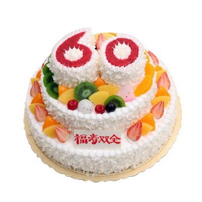 祝寿蛋糕-松柏长青